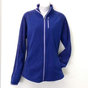 TEKGEAR Blue Front Zip Fleece
